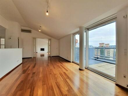 Fantastische 7-Zimmer DG-Wohnung mit 160m²-Terrassenfläche!! - Grenze 1. Bezirk!!