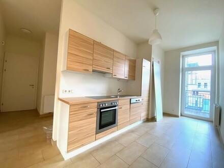 großzügiges Wohnzimmer mit offener Küche