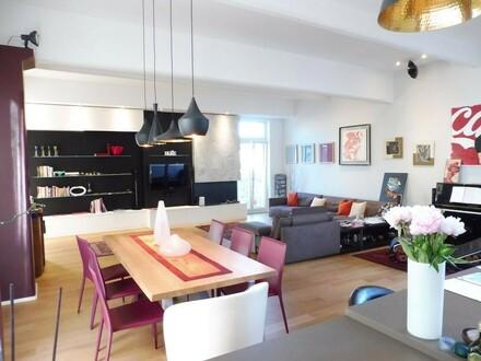 Top möblierte Designer Loft mit 3 Balkonen in bester Lage im 7. Bezirk! Inklusive Garagenplatz
