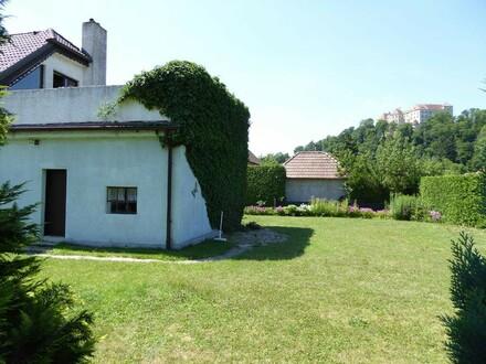 Garten mit BLick auf die Burg Neulengbach