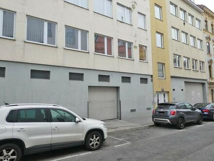 Lagerhalle zwischen Ottakringer und Thalia Straße