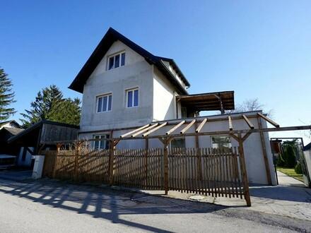 Mehrgenerationenhaus mit Pachtgarten und Aussicht bis zum Anninger