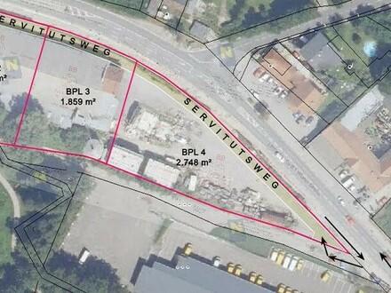 Betriebs-Baugrund an der B1 unweit Wiener Stadtgrenze