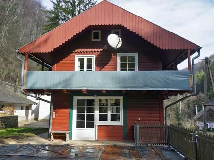 Schmuckes Einfamilienhaus mit separatem Gästehaus in idyllischer Waldlage