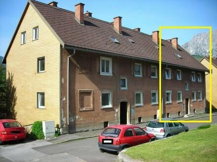 Haus außen mit Markierung
