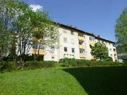 Haus mit Erzberg im Hintergrund