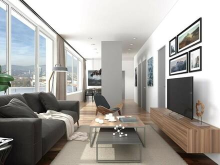 Repräsentative Wohnung mit XXL - 80 m² Dachterrasse mit atemberaubender Aussicht (16.OG) - Zentrale Bestlage mit ausgez…