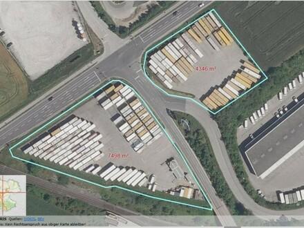 Betriebsbaugrund an der B 1 für Pacht oder auf Basis Baurecht auch als LKW Abstellplatz !!!
