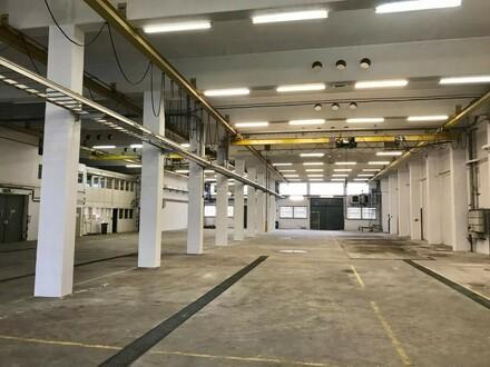 Hochwärtige Hallenfläche im EG und OG mit Lastenkränen und Laderampen, bis zu 11 Meter hoch! Ab 8.1 verfügbar!! Teilflächen…