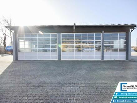 ca. 4700m² befestigte Betriebsliegenschaft mit ca. 450m² Halle, Tankstelle und Nebengebäude in Lenzing
