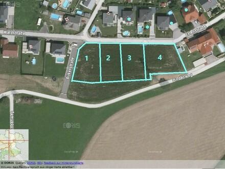 Noch 1 Grundstück verfügbar 903 m2 + 773 m2 Grünland