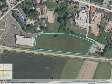 Grundstücke direkt an der Bundestrasse Baurecht neben Lidl