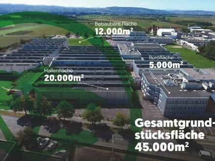 17.000 m2 Hallenkomplex plus viel Büro-auch für eine Produktion geeignet NOCH ca. 6000 m2 frei