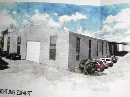 Hochmoderne neue Halle, Baujahr 2018 direkt an der B1 , FUSSBODENHEIZUNG