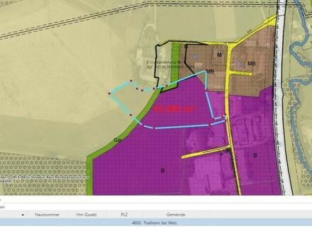 Fast ebener Betriebsbaugrund direkt an der Osttangente im Gewerbegebiet Thalbach/Thalheim Miete oder Baurecht