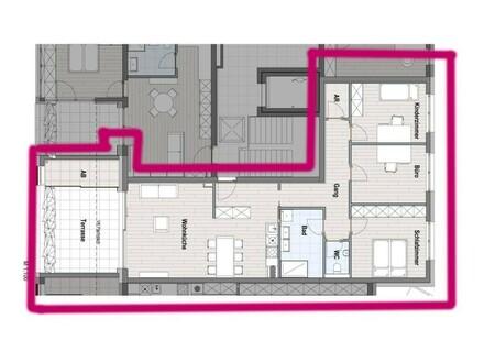 Terrassenwohnung für eine Familie - TOP 14 / 3.OG - provisionsfrei