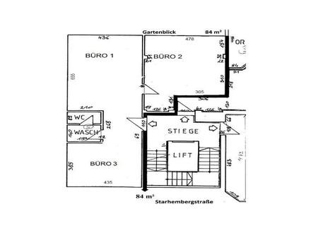 3 Raum Büro, barrierefrei in zentraler Lage