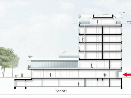 Neubau mit Büros und Wohnungen, Linz-Zentrum