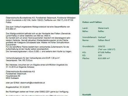 Waldparzelle in Palfau zu verkaufen