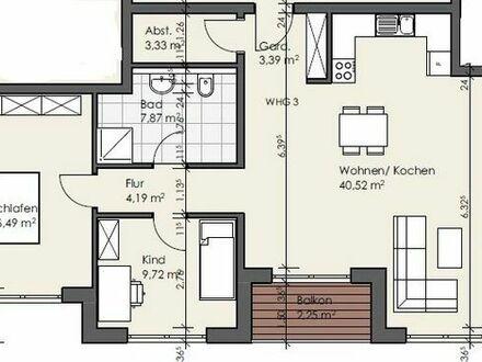Erstbezug: attraktive 3-Zimmer Wohnung mit Balkon in Flörsheim-Dalsheim