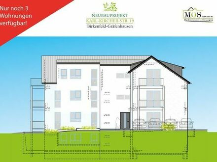 Neubau 4 Zi EG-Wohnung mit Balkon, Blick ins Grüne - WHG 1