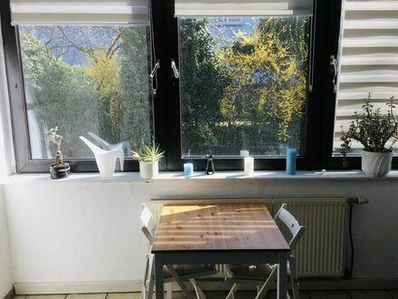 2-Zimmer Wohnung in Rüttenscheid, möbliert, mit eigenem Garten