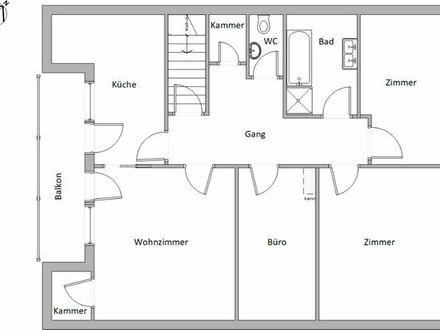Sonnige Dachgeschosswohnung m. Balkon Nördlingen Nähermemmingen