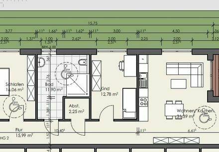 Erstbezug: attraktive 3-Zimmer EG Wohnung mit Terrasse in Flörsheim-Dalsheim