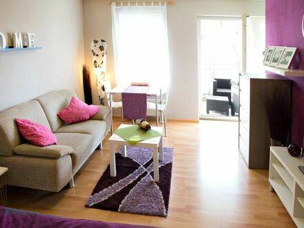 modern möbl. 1 Zimmer Wohnung Weil am Rhein mit Balkon nahe Basel (CH)