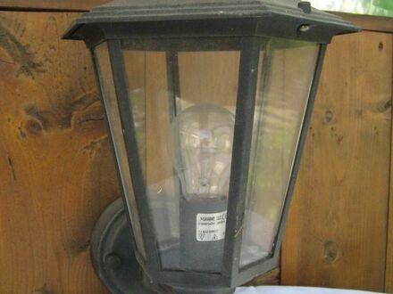 Haus- oder Gartenlauben Lampe, schwarz