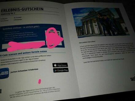 Erlebnis Gutschein Städtetrip für 2
