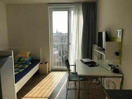 1-Zimmer Appartement mit eigener Küche und Bad, voll möbiliert.
